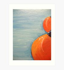 red bouys Art Print