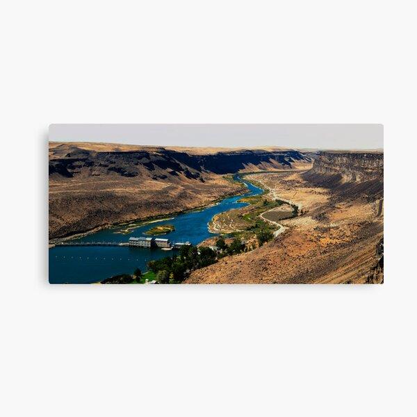 Descent To Swan Falls Canvas Print