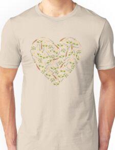 Yellow botanical pattern. Unisex T-Shirt