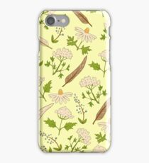 Yellow botanical pattern. iPhone Case/Skin