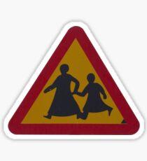 School crossing Sticker