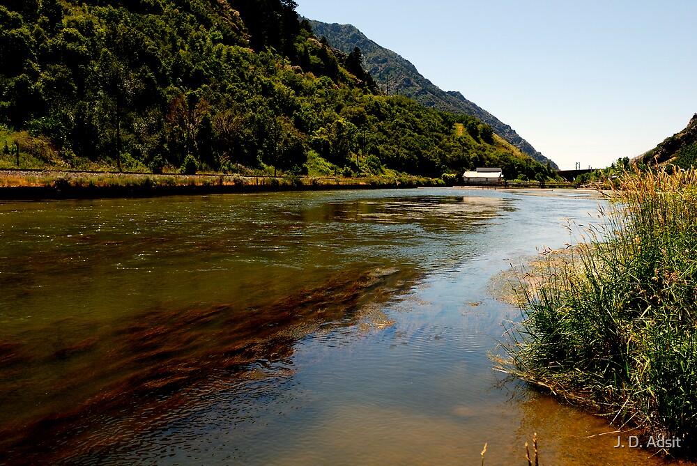 Dam on the Weber River by J. D. Adsit