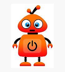 orange robot Photographic Print