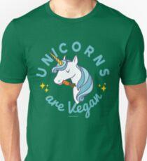 Unicorn TShirt - Unicorns are Vegan (Magic Blue) Unisex T-Shirt