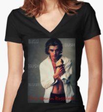 Mrs.  Bush Women's Fitted V-Neck T-Shirt
