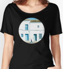 White and blue town Women's Relaxed Fit T-Shirt