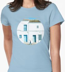 White and blue town T-Shirt