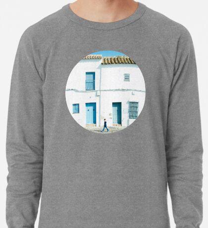 Weiße und blaue Stadt Leichter Pullover