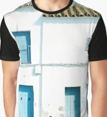 White and blue town Graphic T-Shirt