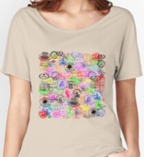 Vintage Passport Stamps  Women's Relaxed Fit T-Shirt