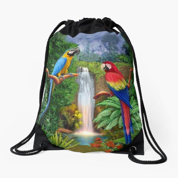 MACAW TROPICAL PARROTS Drawstring Bag