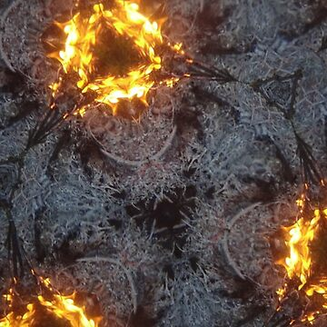 Fractal Fire Dances n°6 by edend