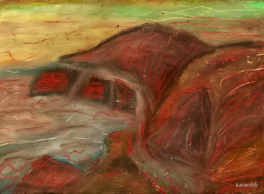 art,drawing,picture,pastel,water,rocks,boredom by karen66