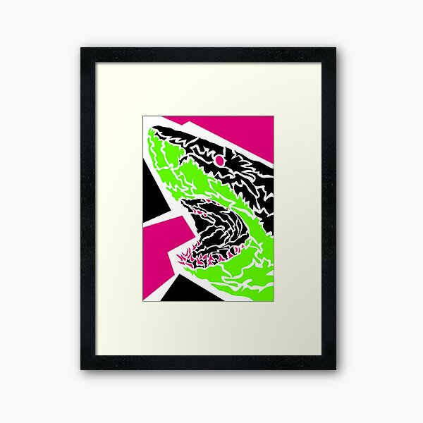Shark Gerahmter Kunstdruck