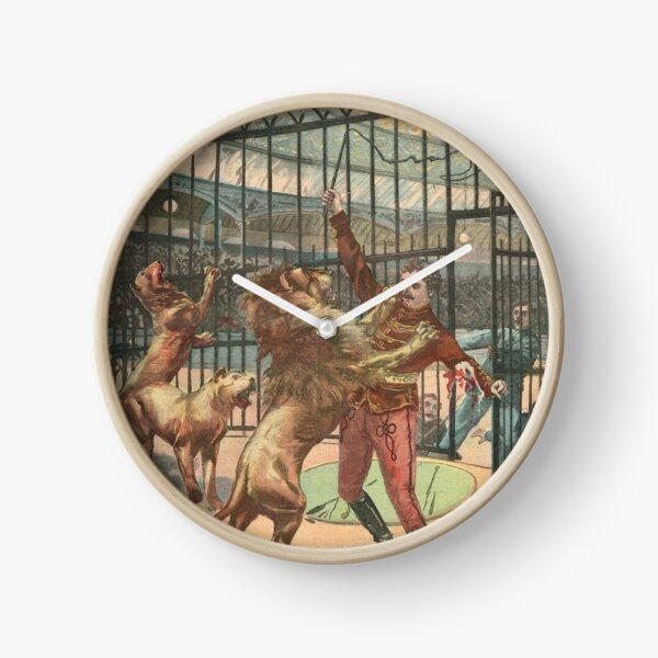 Les Caprices D'un Lion / Lion Tamer Georges Marck mauled in 1900 Clock