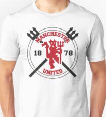 Manchester United Cross Logo Unisex T-Shirt