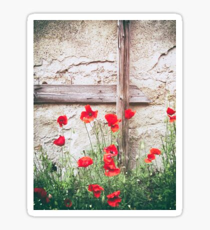 Poppies against wall Sticker