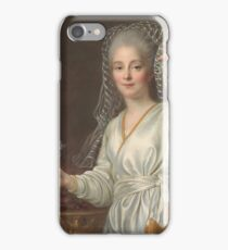 Francois Hubert Drouais - Portrait Of A Young Woman As A Vestal Virgin iPhone Case/Skin