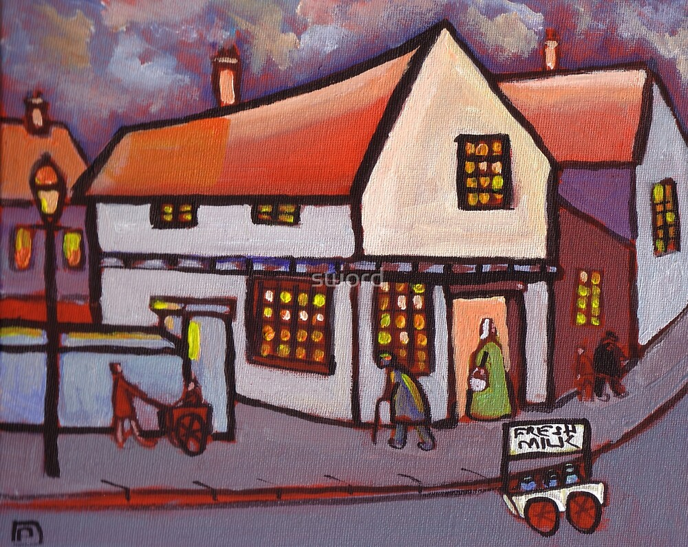 Fresh milk (from my original acrylic painting)  by sword