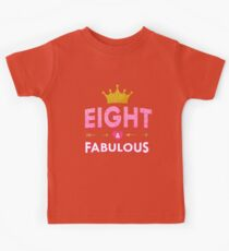 Cute 8th Birthday For Girls Princess Crown Eight Kids Clothes