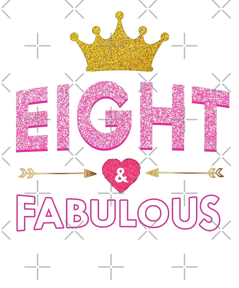 8th birthday Cute 8th Birthday For Girls Princess Crown Eight