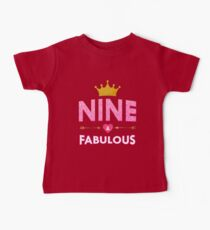 Cute 9th Birthday For Girls Princess Crown Nine Gift Tee Kids Clothes
