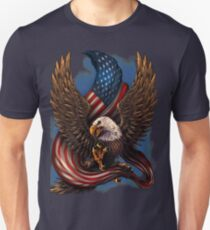 American Eagle and Flag Unisex T-Shirt