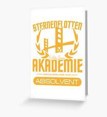 Absolvent der Sternenflotten Akademie Greeting Card