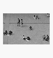 Life at Pompidou Square Photographic Print