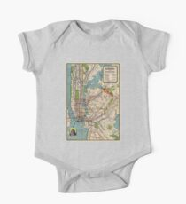 Vintage NYC Subway Map One Piece - Short Sleeve