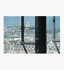 View over Montmartre from Pompidou Photographic Print