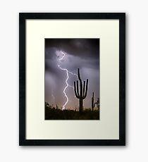 Sonoran Desert Monsoon Storming Framed Print