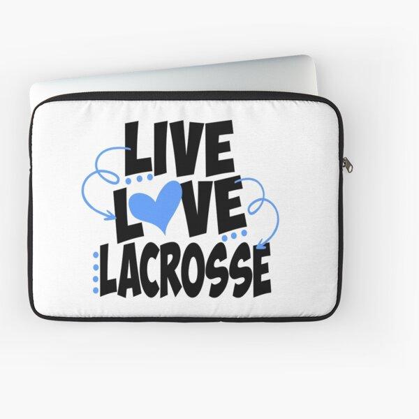 Live Love Lacrosse Laptop Sleeve