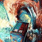 time travel box jump into dark vortex by NadiyaArt
