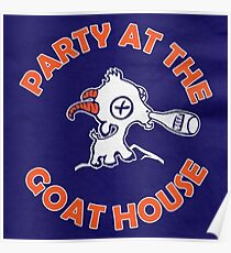 Party at the Goat House (Blue) Poster