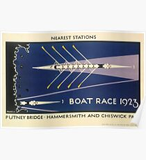 Boat Race 1923 Underground Poster Poster