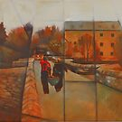 Staverton Mill Canoeing by Bernard Barnes