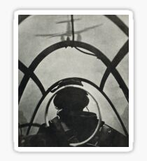 WW2 Pilot flying plane on patrol 1944 Sticker