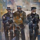 Brixham Fishermen by Bernard Barnes
