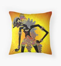 Javanese shadow puppet Surakarta style (Jagal Abilawa) Throw Pillow