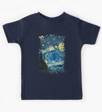 Fliegende britische Telefonzelle Kinder T-Shirt