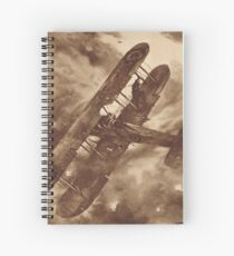 WWI Hero balancing a plane by wing walk Spiral Notebook