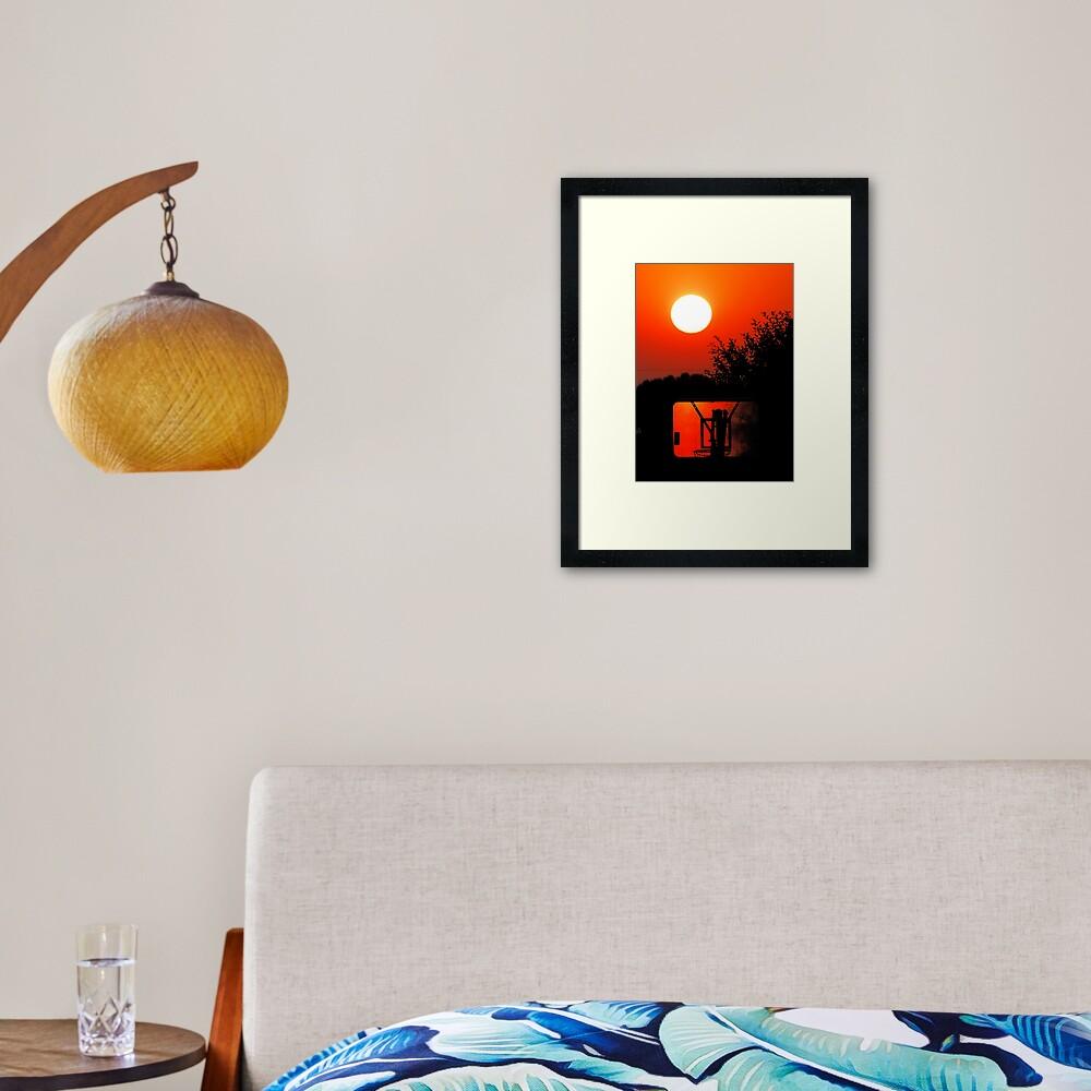 Three Point Sunset Framed Art Print