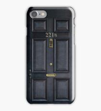 221b baker street black wood door iPhone Case/Skin