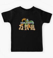 Double Dragon Pixel Art Kids Tee