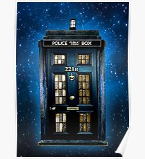 Detective Phone box with 221b number Poster