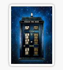 Detective Phone box with 221b number Sticker