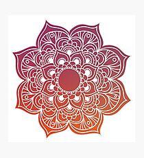Mandala red Photographic Print