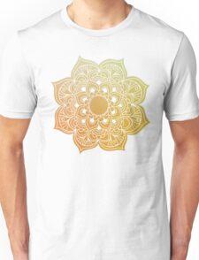 Mandala gold yellow Unisex T-Shirt