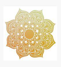 Mandala gold yellow Photographic Print